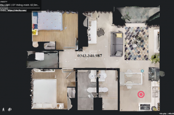 Chuyển nhượng căn hộ 2PN, căn góc tòa S2.162001