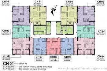 Bán lỗ căn 2PN, T1805 CT1, DT 60m2, CC A10 Nam Trung Yên, giá 28tr/m2 (BT) chính chủ O961958301
