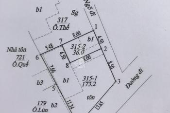 Bán lô đất tại tổ 12 Yên Nghĩa, Hà Đông, 36m2, mặt tiền 4,5m. LH: 0936135299