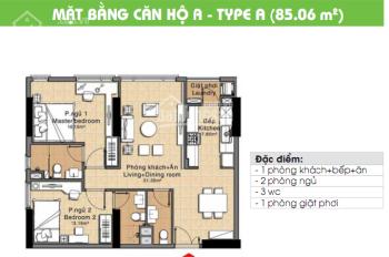 Cần bán gấp căn hộ CC The Era Town Đức Khải, Q7, 1tỷ680, 85m2, 2PN, LH 0902339985