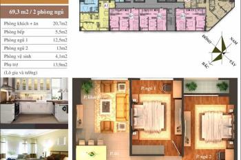 Bán căn hộ 70m2, 2PN, cửa Tây Bắc, đủ nội thất chung cư CT12 Văn Phú, giá 1,35tỷ. Lh 0946543583