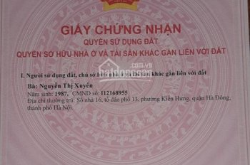 Đất thổ cư vuông đẹp 2 mặt thoáng, gần hồ sinh thái phố Mậu Lương, sát KĐT Xa La Hà Đông HN
