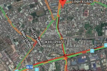 Duy nhất 2 lô đất nền giá chỉ 39tr/m2 mặt tiền quốc lộ 1k phường linh xuân quận thủ đức