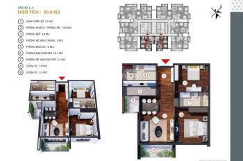 cần bán căn hộ 90m2, 2 PN chung cư Golden Land 275 Nguyễn Trãi. Ban công Đông Nam. Lh 0911846848
