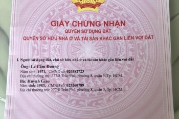 Bán căn nhà 4x18m, 1 trệt 3 lầu đường số KDC Bình Hưng, Bình Chánh