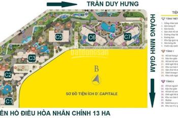 Bán chung cư D'capitale Trần Duy Hưng, 2 phòng ngủ. Giá 1,9 tỷ