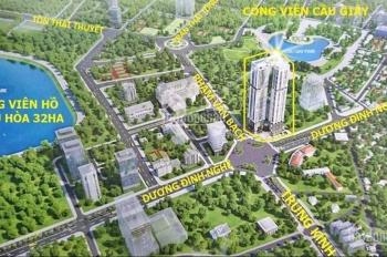 Căn hộ 3PN hướng Đông Nam view trọn công viên Cầu Giấy tầng 18,22 giá hấp dẫn