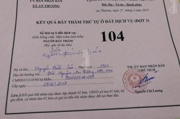 Chính chủ cần bán lại lô đất dịch vụ đã bốc thăm đợt 3 tại xã An Thượng, DT=71.2m2, LH: 0934464694