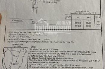 Bán đất thổ cư đường Bình Giã, phường 8, giá 1,2 tỷ đồng