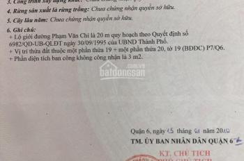 Cần bán nhà 152.4m2, 1 trệt, 1 lầu, MT Phạm Văn Chí, P. 7, Q. 6, TP. HCM