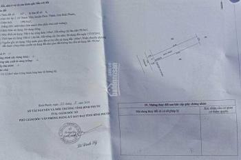 Cần bán 3 lô đất sổ sẵn thổ cư 100m2, diện tích 5x40m ngay TT Chơn Thành, Bình Phước
