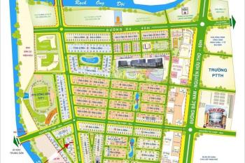 Cho thuê nhà Him Lam Kênh Tẻ, quận 7. DT 5x20m, hầm trệt 3 lầu, đường rộng 14m giá 45tr/tháng