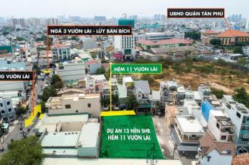 Bán đất SHR từng lô, đường 11/2 Vườn Lài, Tân Phú. DT đa dạng, hẻm rộng 7m, vị trí đẹp, khu sầm uất