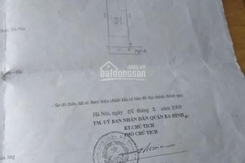 Bán nhà cấp 4 diện tích 47m2 tại Vĩnh Phúc  Ba Đình. Ngõ to dễ đi lại. Nhỉnh 2 tỷ. ( 0886 194 810)