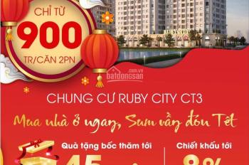 Sốc, nhận nhà đón tết tại Ruby City 3 chiết khấu lên tới 8% GTCH