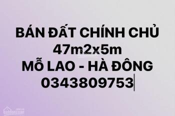 CC BÁN ĐẤT (47m2x5m) có view Hồ kinh doanh siêu đẹp, ôtô vào nhà  Tại MỖ LAO-HÀ ĐÔNG-HN Chỉ 4.2 TỶ