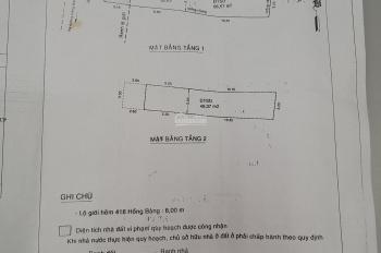 Chính chủ cần bán gấp nhà phố đường Hồng Bàng, Q11 - giá 6,3 tỷ TL - 62,63m2