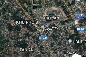 Đất mặt tiền Nguyễn Chí Thanh, Hiệp An, Thủ Dầu Một, Bình Dương, kế KDL Đại Nam, 7x39m. TC 70m2