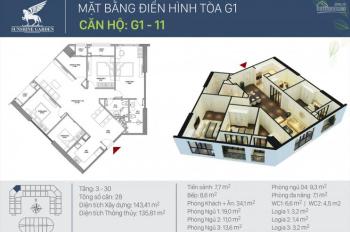 Chính chủ bán gấp căn góc chung cư cao cấp Sunshine Garden Vĩnh Tuy, Hai Bà Trưng