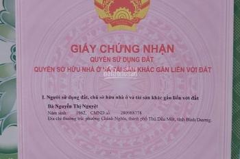 Chính chủ cần bán gấp nhà hẻm phường Phú Thọ, Thủ Dầu Một