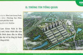 Shophouse Him Lam Đại Phúc Bắc Ninh tìm chủ. Căn góc chính chủ 108m2 giá đầu tư. LH 0968508790