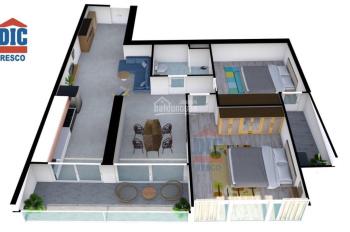 Còn 1 căn hộ 76,5m2 dự án chung cư 4 sao Gateway Vũng Tàu, Bán giá gốc chủ đầu tư DIC, giá 1,880 tỷ