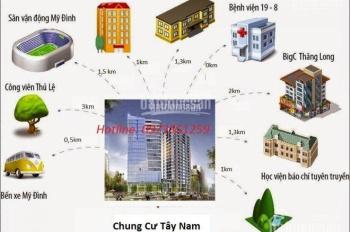 Cần tiền bán gấp căn hộ 2PN chung cư 7A Lê Đức Thọ sổ đỏ chính chủ chỉ 1.5 tỷ/căn LH: 0973.351.259