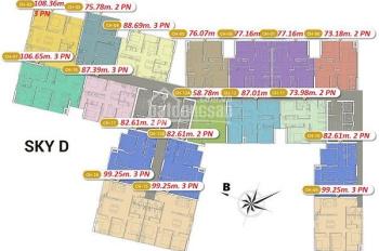 Bán lỗ CHCC Imperia 423 Minh Khai D - 1507(77m2) & D - 2015(99m2), 35tr/m2, A Minh: 0981751828