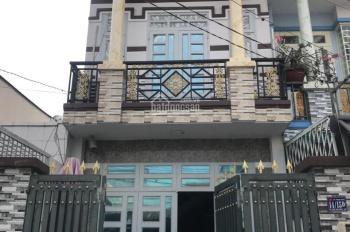 Bán gấp nhà 85m2 1 trệt 1 lầu đường Bà Triệu, Hóc Môn, giá rẻ 1.2 tỷ, sổ hồng, gần chợ Hóc Môn