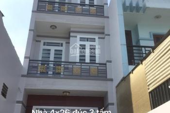 Bán nhà mới xây 4 x 26m, sổ hồng riêng đúc 4 tấm sân thượng gần đường Nguyễn Thị Sóc chợ đầu mối