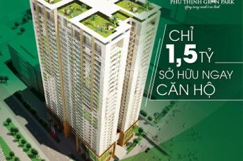 Ngay trung tâm quận Hà Đông, chung cư Phú Thịnh Green Park. Chỉ 1,5 tỷ sở hữu ngay, lh 0909469111