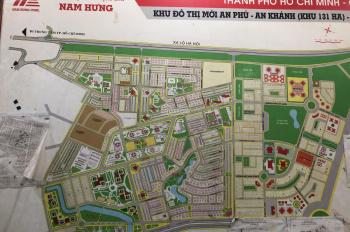 Bán đất An Phú An Khánh, Q2. Mặt tiền đường Vành Đai Tây.Diện tích 5x20 giá 135 triệu/m2. Đường 18m