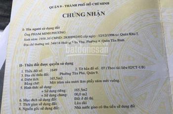Bán mặt tiền Ngã ba Mỹ Thành, Lê Văn Việt, Tân Phú, Quận 9, 400m2/60 tỷ, LH: 0984865597