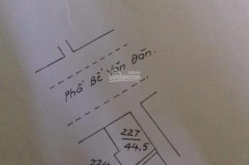 Cần bán đất mặt phố Bế Văn Đàn quận Hà Đông S=45m2 2 mặt thoáng