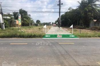 Mặt tiền đường nhựa 239 lộ giới 42m ngay đầu ngã tư Chơn Thành full thổ cư, 0337113521