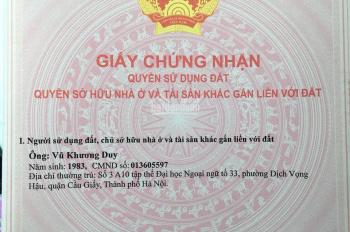 Bán đất ngõ 63/212 Lê Đức Thọ, 50m2 x 4.3m, MT giao thông thuận lợi xây căn hộ cách đường ô tô 100m