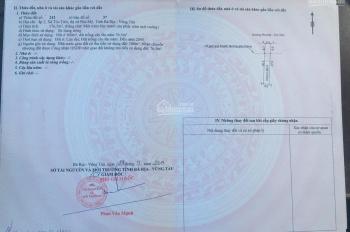 Bán đất thổ cư mặt tiền đường 81 thị trấn Phú Mỹ Bà Rịa Vũng Tàu giá thấp