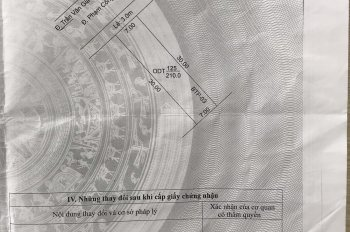 Bán nền đẹp mặt tiền đường Phạm Công Trứ, Khu Cồn Khương, TDT 210m2, sổ hồng, giá dưới 8 tỷ
