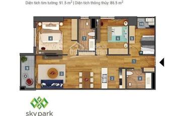 Chung cư Sky Park Residence 3 phòng ngủ, đầy đủ nội thất cao cấp, giá cả hợp lý