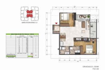 Bán căn hộ 2 phòng ngủ cầu giấy chỉ 2,3 tỷ diện tích 71m2