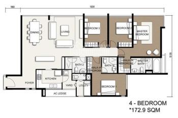 Bán gấp căn hộ The Vista An Phú 4 phòng ngủ, 173m2, nội thất dính tường, giá chỉ 8,5 tỷ bao phí