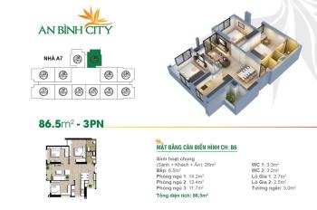 Chính chủ bán căn hộ 86m2, 3 phòng ngủ, An Bình City, tòa A7, căn góc, giá 2 tỷ 770