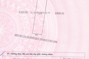 Chính chủ bán lô đất nền LK04 khu đô thị Sông Đơ, TP Sầm Sơn, Thanh Hóa
