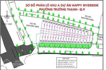 Còn 22 nền DA Happy Riverside, MT Nguyễn Xiển, 55 - 120m2, giá 1 tỷ 5. LH Vi 090.789.6678