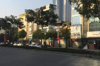 Bán nhà mặt phố Nguyễn Văn Huyên 110m2, 7 tầng, mặt tiền 9.2m, hè rộng 8m