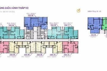 Suất ngoại giao 3 phòng ngủ tòa V2 (DT 88 - 95m2 ban công Đông Nam), giá chỉ từ 1.9 tỷ 0901751599