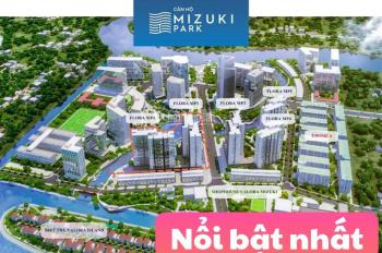 Cho thuê căn hộ Mizuki Park , 56m2 7tr, 72m2 10tr, 3PN 14tr/th, View thoáng đẹp, LH 0902979005