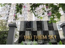 Cho thuê CH Thủ Thiêm Sky, Q.2, 56m2, 2PN.Giá 8.5 tr/tháng, lầu cao, view sông, nội thất chủ đầu tư