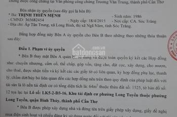 Bán nhà đẹp giá đầu tư Đường số 3 khu Tiểu Dự Án Nhi Đồng, P.Long Tuyền, Q.Bình Thủy, TP Cần Thơ
