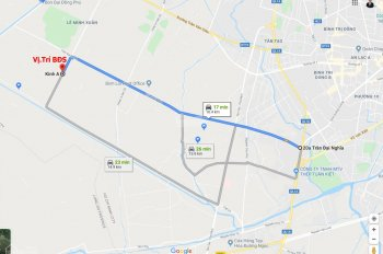 Trí BĐS, đất 20mx62m= 1.265m2 (768.5m2 ODT + 496.5m2 CNL), mặt tiền đường Kênh A gần Trần Đại Nghĩa